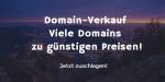 Domain-Verkauf zu günstigen Preisen