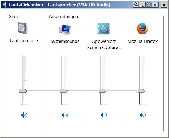 05 Läutstärkemixer - Firefox Lautsprecher eingeschaltet