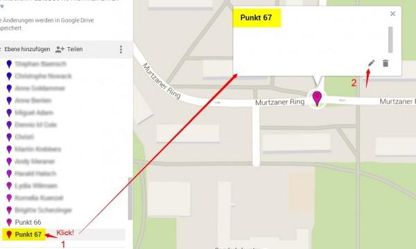 Google Maps - Orte suchen und hinzufügen