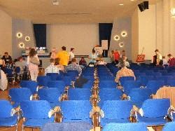 Die Seminarhalle vom Gedankendoping Sprungbrettseminar in Berlin Adlershof