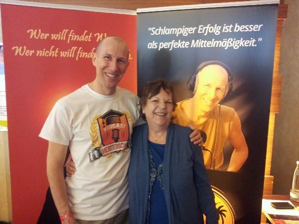 Roswitha mit Tom Kaules auf den Affilidays 2016