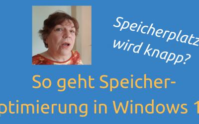 Speicherplatz wird knapp? So geht Speicheroptimierung in Windows 10