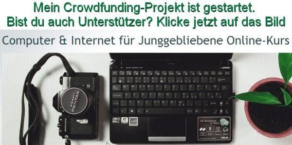 Mein Crowdfunding-Projekt ist gestartet. Unterstützt du mich?