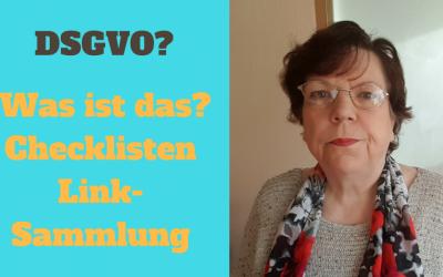 DSGVO Checklisten & Link-Sammlung