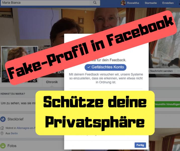 Fake-Profil in Facebook