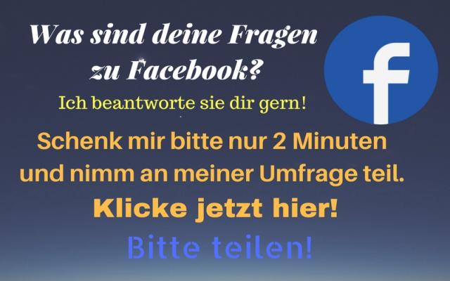 Deine Fragen zu Facebook - Umfrage
