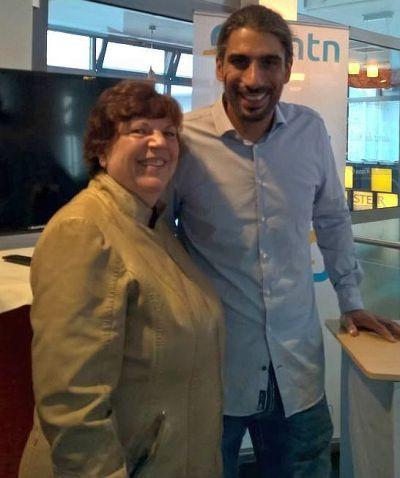 Roswitha Uhde und Daniel Dirks beim 1. Communityday