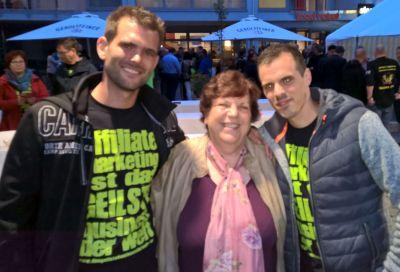 Roswitha Uhde und Jens Neubeck & Philipp Geiger beim Communityday