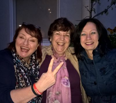 Roswitha mit Sabine Werlich und Claudia Gund beim 1. Communityday