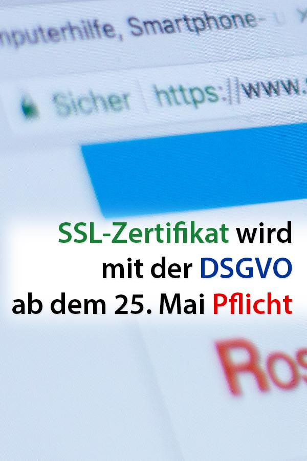 Das SSL-Zertifikat wird mit der DSGVO Pflicht