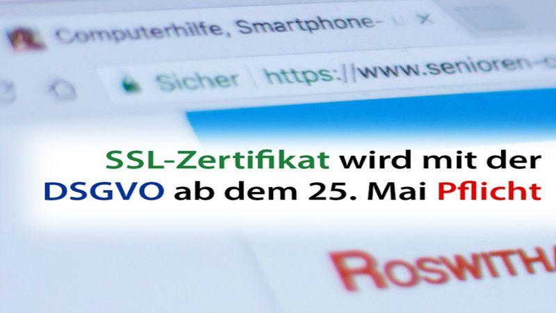 SSL-Zertifikat wird mit der DSGVO Pflicht